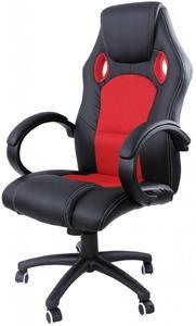 Kancelárske kreslo Hawaj MX Racer otočné, červeno-čierne