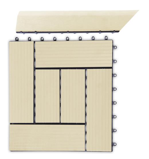 Prechodová lišta G21 Cumaru pro WPC dlaždice, 38,5 x 7,5 cm rohová (levá)