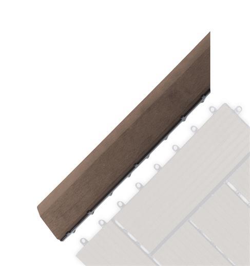 Prechodová lišta G21 Indický teak pro WPC dlaždice, 38,5 x 7,5 cm rohová (levá)