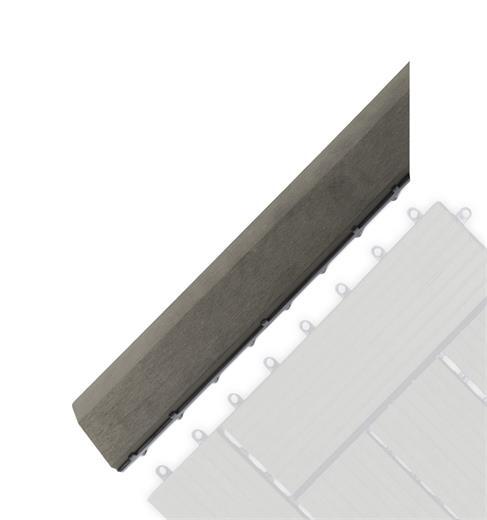 Prechodová lišta G21 Incana pro WPC dlaždice, 38,5 x 7,5 cm rohová (levá)