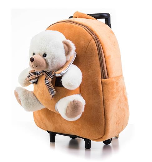 Hračka G21 Batoh s plyšovým medvedíkom 2v1, hnedý