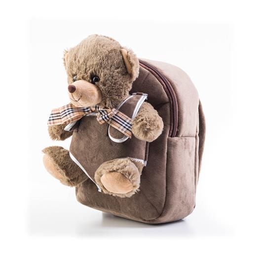 Hračka G21 Batoh s plyšovým medvedíkom, hnedý