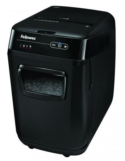 Skartovač Fellowes AutoMax 200C DIN 4, Cross cut 4×38mm, zásuvka 200listů, 32l, CD+DVD, Credit Card, NBÚ + olej ZDARMA!