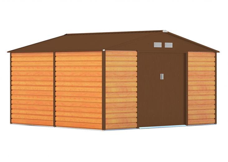 Záhradný domček G21 GAH 1085 - 340 x 319 cm, hnedý