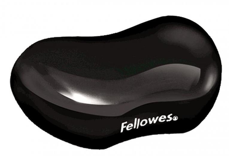 Podložka Fellowes CRYSTAL pod zápästie, gélová, čierna