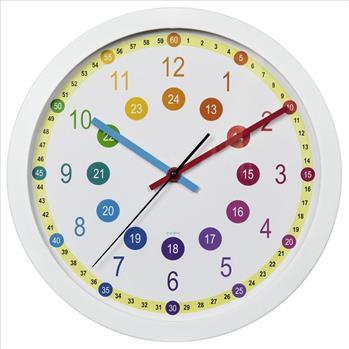 Hodiny Hama Easy Learning dětské nástěnné, průměr 30 cm, tichý chod