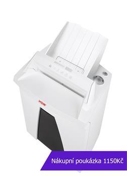 Skartovač HSM Securio AF150 DIN 3, 4,5x30mm, 10 listů, 34l, CD+DVD, Credit Card, sponky