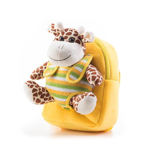 Hračka G21 Batoh s plyšovou žirafou, žltý