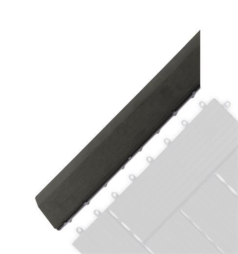 Prechodová lišta G21 Eben pro WPC dlaždice, 38,5 x 7,5 cm rohová (levá)