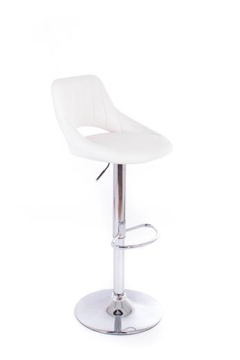 Barová stolička G21 Aletra koženková white