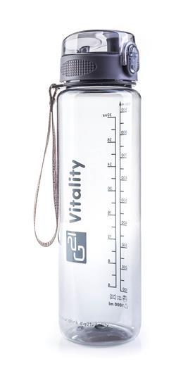 Fľaška G21 na pitie, 1000 ml, sivá