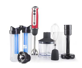 Set G21 mixér VitalStick 800 W, Red/Black + Smoothie maker