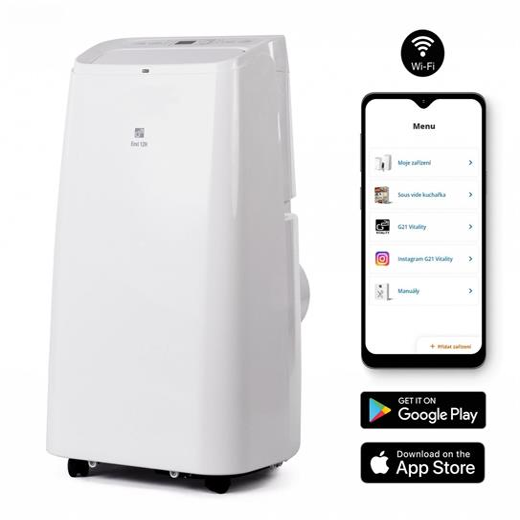 Klimatizácia G21 Envi 12H mobilná s vykurováním, 12000BTU, odvlhčovanie 28,8l/24h, diaľkové ovládanie, WiFi