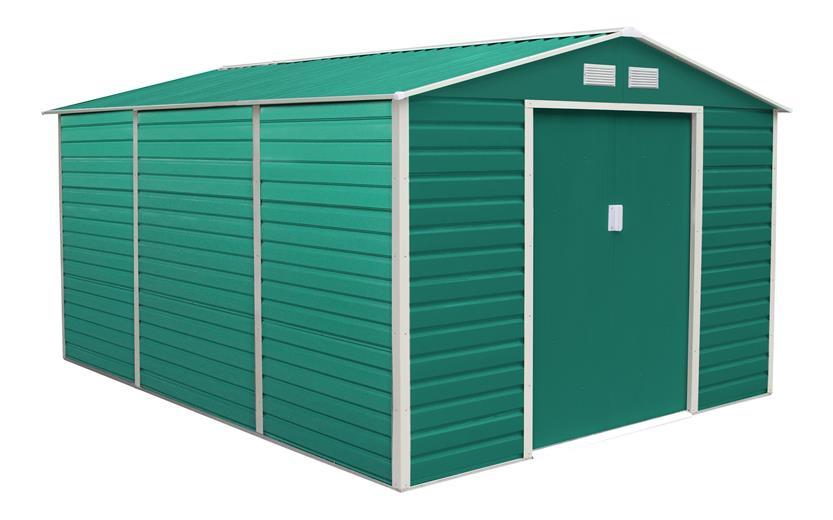 Záhradný domček G21 GAH 1300 - 340 x 382 cm, zelený