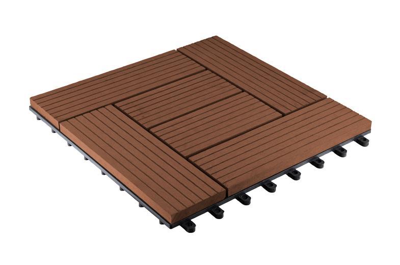 WPC dlaždice G21 Palmyra čerešňa 2,3 x 30 x 30 cm