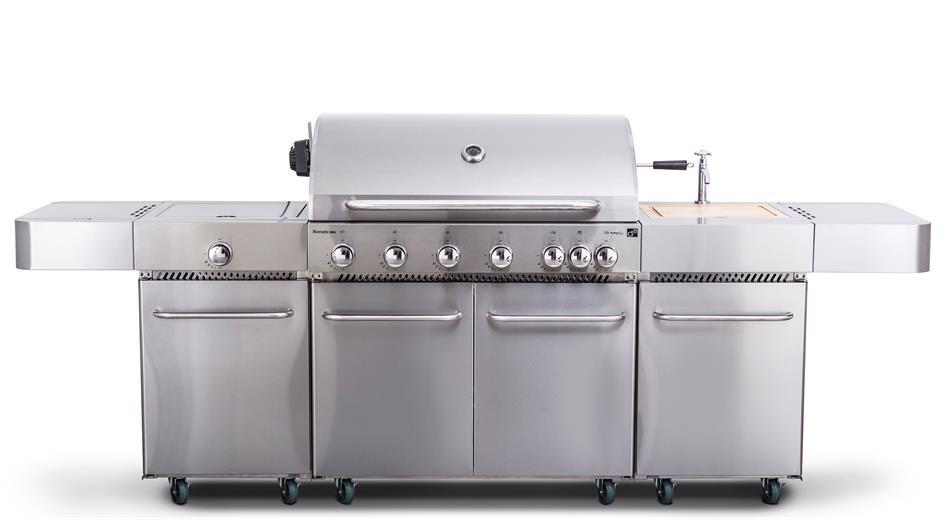 Plynový gril G21 Nevada, BBQ kuchyňa Premium Line 7 horákov + zadarmo redukčný ventil