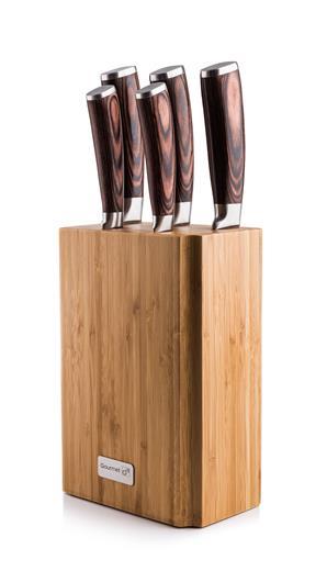 Sada nožov G21 Gourmet Nature 5 ks + bambusový blok