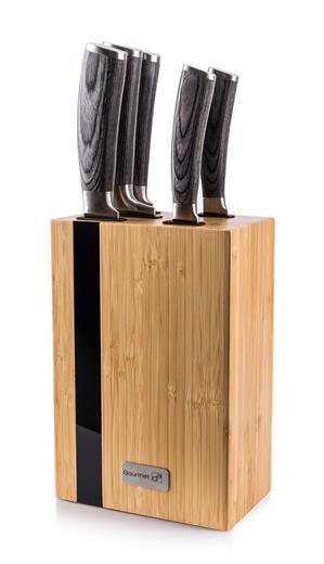 Sada nožov G21 Gourmet Rustic 5 ks + bambusový blok