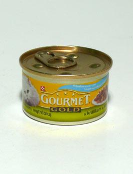 Konzerva Gourmet Gold  kočka duš.králík a játra 85g