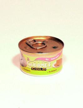 Konzerva Gourmet Gold  kočka jemná paštika kuře,játra 85g