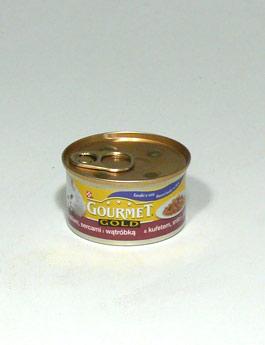 Konzerva Gourmet Gold  kočka k.masa kuře,srdce,játra 85g