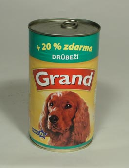 Konzerva Grand  pes drůbeží 1150g