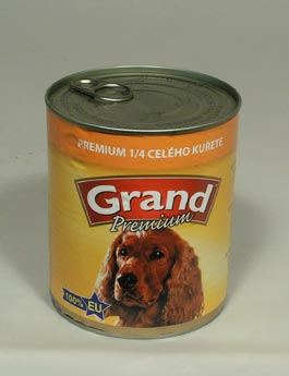 Konzerva Grand  pes Extra s 1/4 kuřete 850g