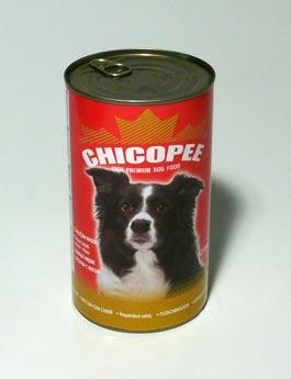 Konzerva Chicopee pes  jehněčí kostky s rýží 1230g