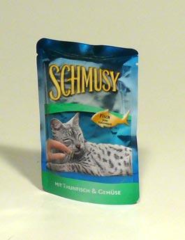 Konzerva Schmusy Cat kapsa Fish tuňák+zelenina 100g
