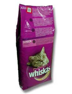 Granule Whiskas Dry s hovězím,karotkou a polšt. s náplní 14kg