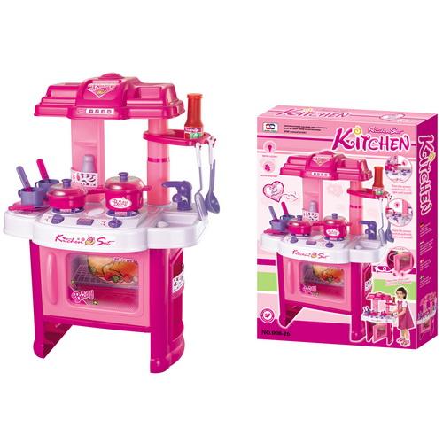 Hračka G21 Detská kuchynka DELICACY s príslušenstvom, ružová