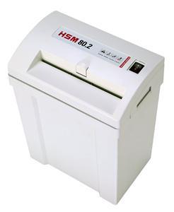 Skartovač HSM Classic 80.2 DIN 2, prúžok 3,9mm, 7 listov, 17l, sponky,
