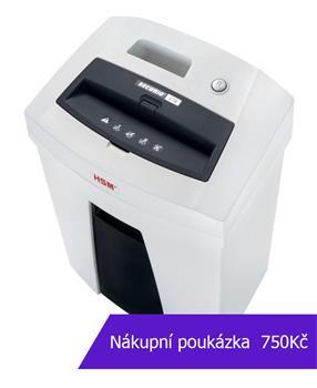 Skartovač HSM Securio C16 DIN 2, proužek 3,9mm, 14 listů, 25l, Credit Card, sponky, NBÚ - obnovování