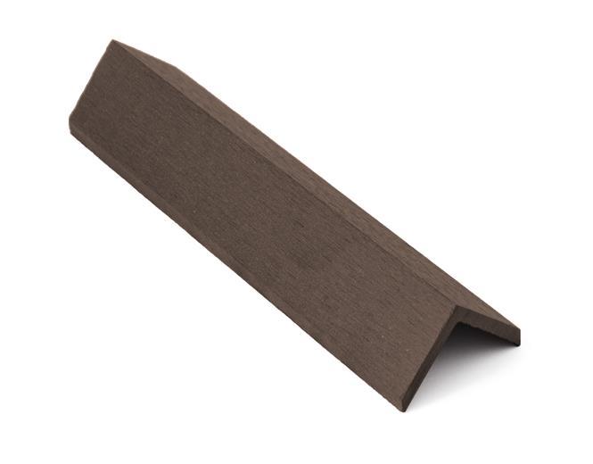 Zakončovacia lišta G21 4,5*4,5*300cm, Indický teak mat. WPC