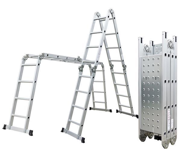 Hliníkové štafle G21 GA-SZ-4x4-4,6M multifunkčné + podlážka