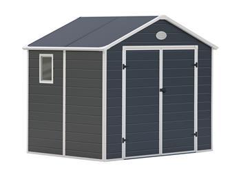 Záhradný domček G21 PAH 458 - 241 x 190 cm, plastový, šedý