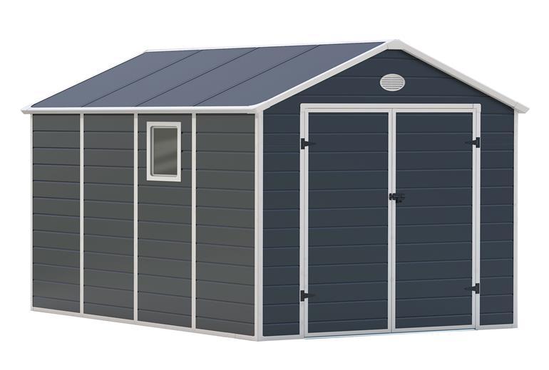 Záhradný domček G21 PAH 882 - 241 x 366 cm, plastový, šedý