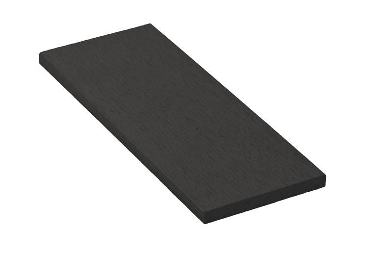 Zakončovacia lišta G21 Eben plochá 0,9 x 9 x 200 cm, mat. WPC