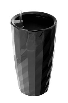 Samozavlažovací kvetináč G21 Diamant čierny 57 cm