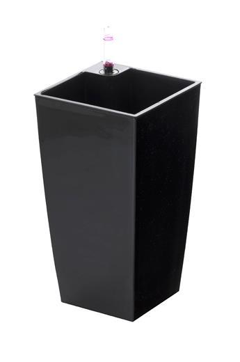 Samozavlažovací kvetináč G21 Linea mini čierny 26 cm