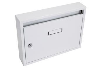 Schránka poštovná G21 paneláková 320x240x60mm biela bez dier