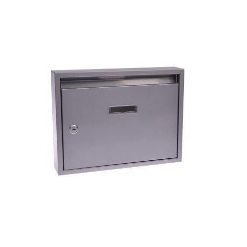 Schránka poštovná G21 paneláková 320x240x60mm sivá bez dier