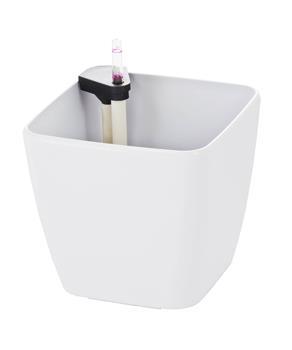 Samozavlažovací kvetináč G21 Cube biely 22cm
