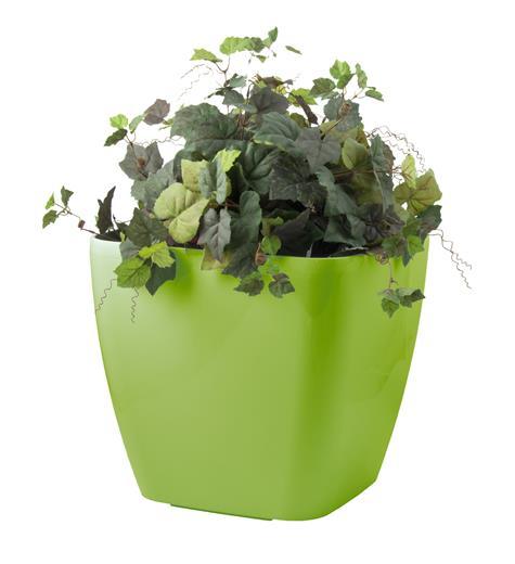 Samozavlažovací kvetináč G21 Cube maxi zelený 45 cm