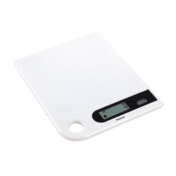 Kuchynská váha Professor KV512B super plochá, plastová biela, dotykové ovládanie