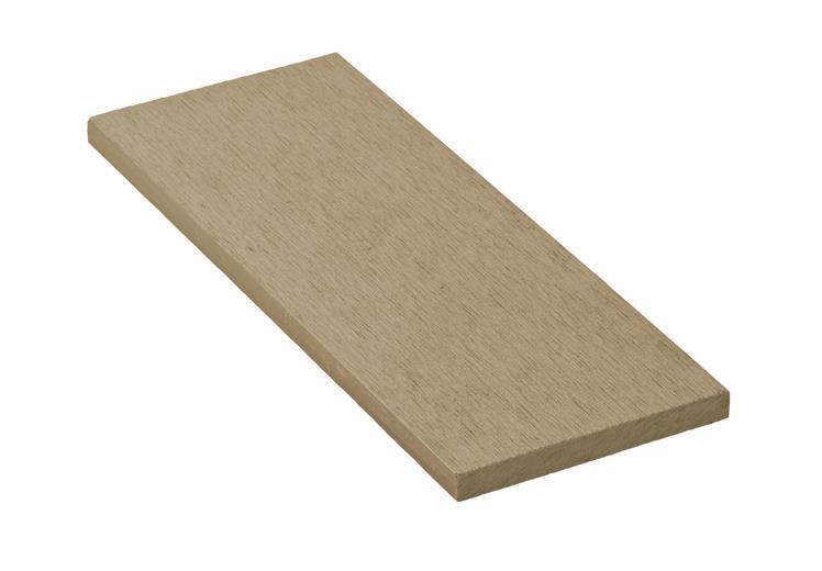 Zakončovacia lišta G21 Cumaru plochá 0,9 x 9 x 200 cm, mat. WPC