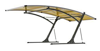 Prístrešok pre automobil G21 Carport black/yellow
