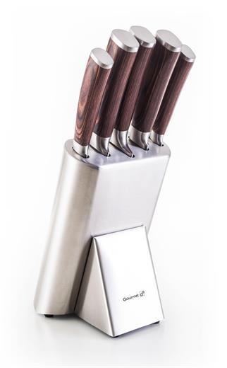 Sada nožov G21 Gourmet Steely 5 ks + nerez blok