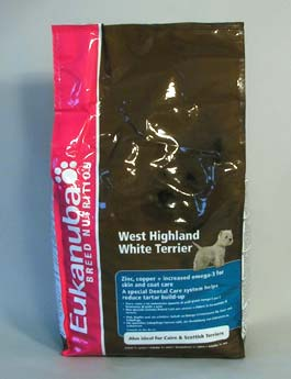 Granule Eukanuba Dog Breed N. West High White Terrier 2,5kg