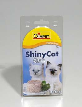 Konzerva Gimpet kočka  ShinyCat Junior kuře 2x85g